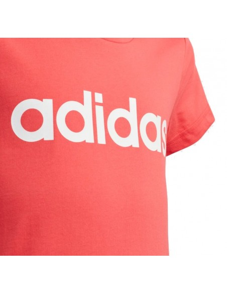 CAMISETA ADIDAS ESSENTIALS LINEAR FUCSIA GS NIÑA (FM7020).