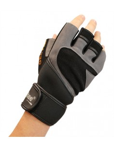 GUANTES FITNESS NEGRO SOFTEE (35111.A18).