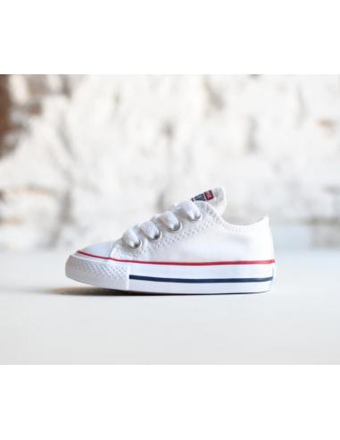 zapatillas lona blanca niño converse