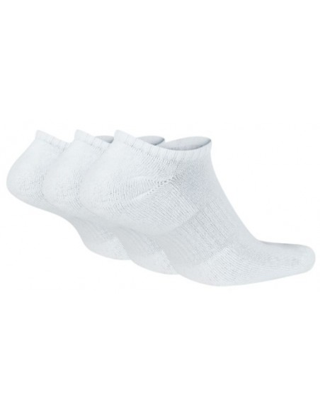 CALCETINES TOBILLEROS NIKE EVERYDAY BLANCO PACK 3 PARES (SX7673-100).